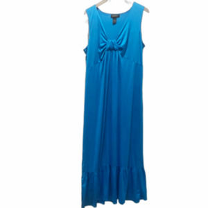 Lane Bryant Sleeveless Knot Maxi Dress Blue 18/20